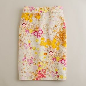 J. Crew Sunshine Peony Pencil Skirt Size 2